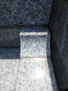 階段脇水アカ洗浄前